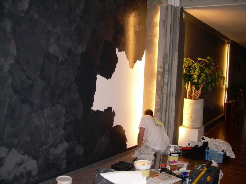 Muur gescilderd met Ressource kalkverf