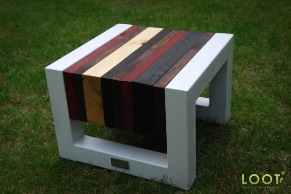 tafel gekleurd met allback lijnolie