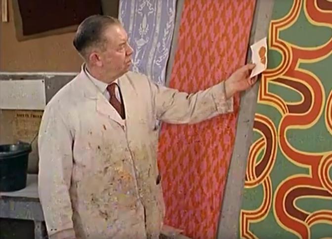 Fabricage van behang in vroegere tijden